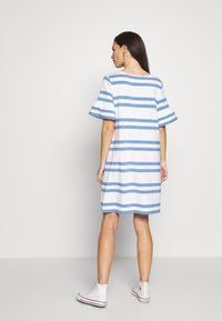 Slacks & Co. - VERONIKA - Jersey dress - sky blue/white - 2