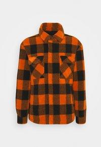 LUKE - Summer jacket - sunrise orange/black