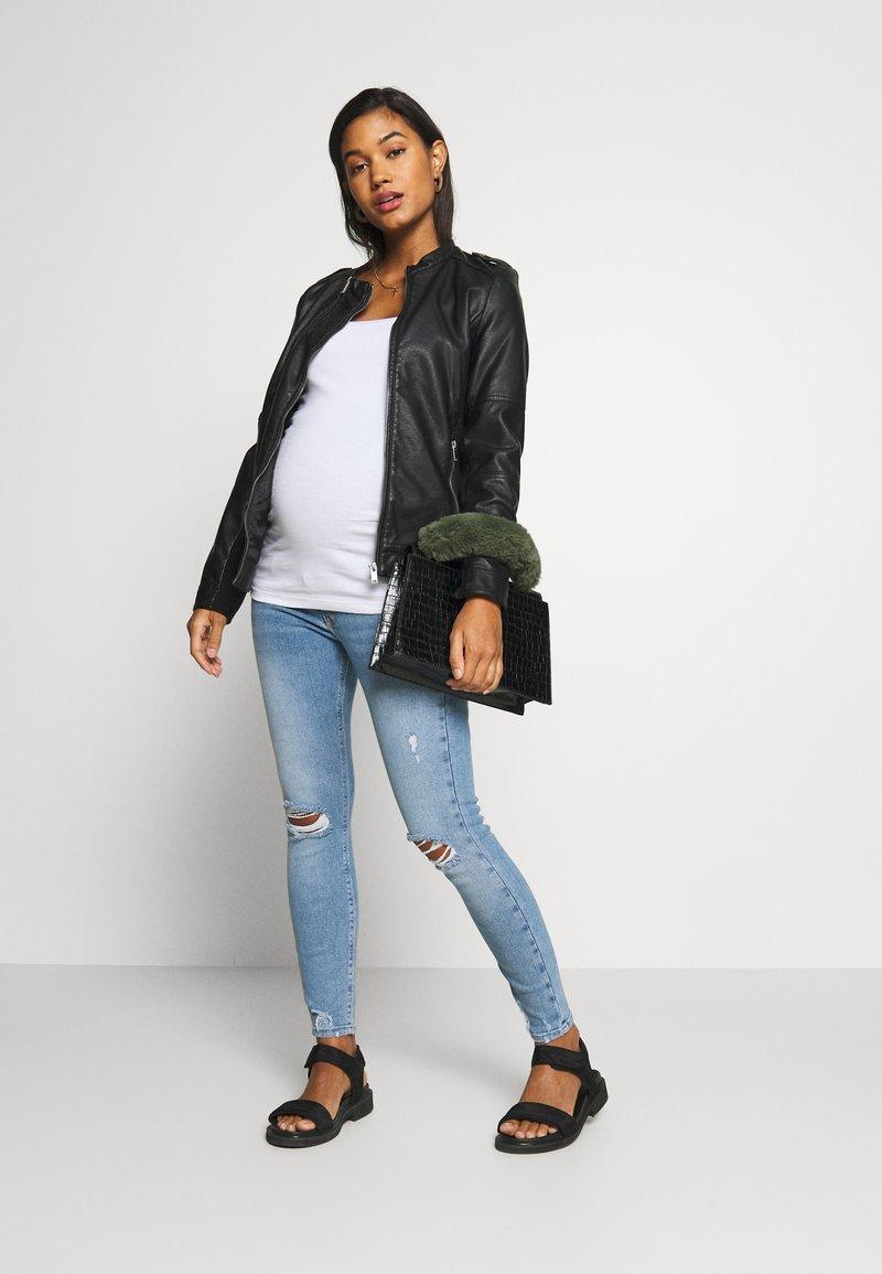 New Look Maternity - 3 PACK NURSING VEST - Top - black/grey/white