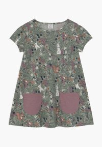 Lindex - MINI LONGSWEET - Žerzejové šaty - light dusty green - 0