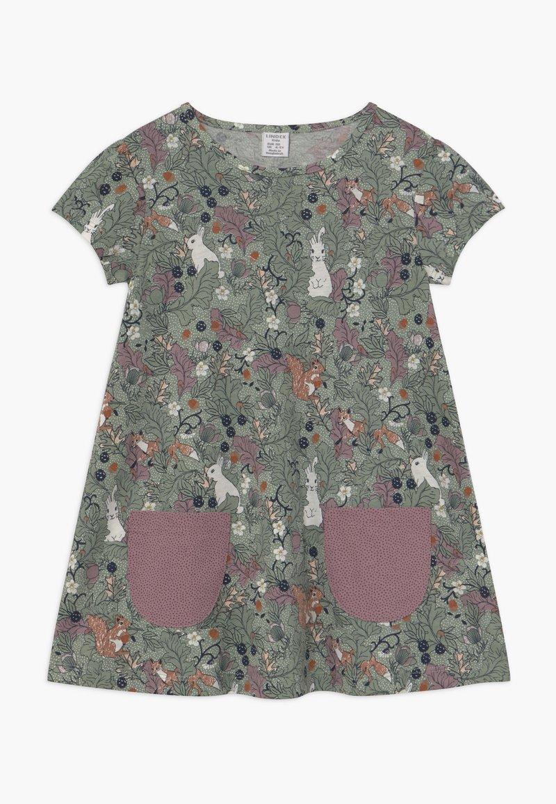 Lindex - MINI LONGSWEET - Žerzejové šaty - light dusty green