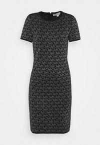 DOT - Shift dress - black/silver