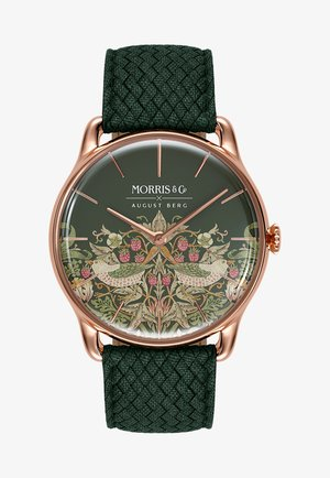 UHR MORRIS & CO ROSE GOLD GREEN PERLON 38MM - Watch - fennel