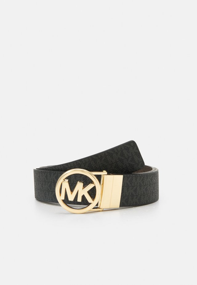 LOGO REVERSIBLE BELT - Belt - black/brown/gold