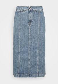 JAIRA - Denim skirt - light blue