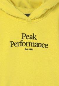 Peak Performance - JR ORIGINAL HOOD UNISEX - Sweatshirt - citrine - 2
