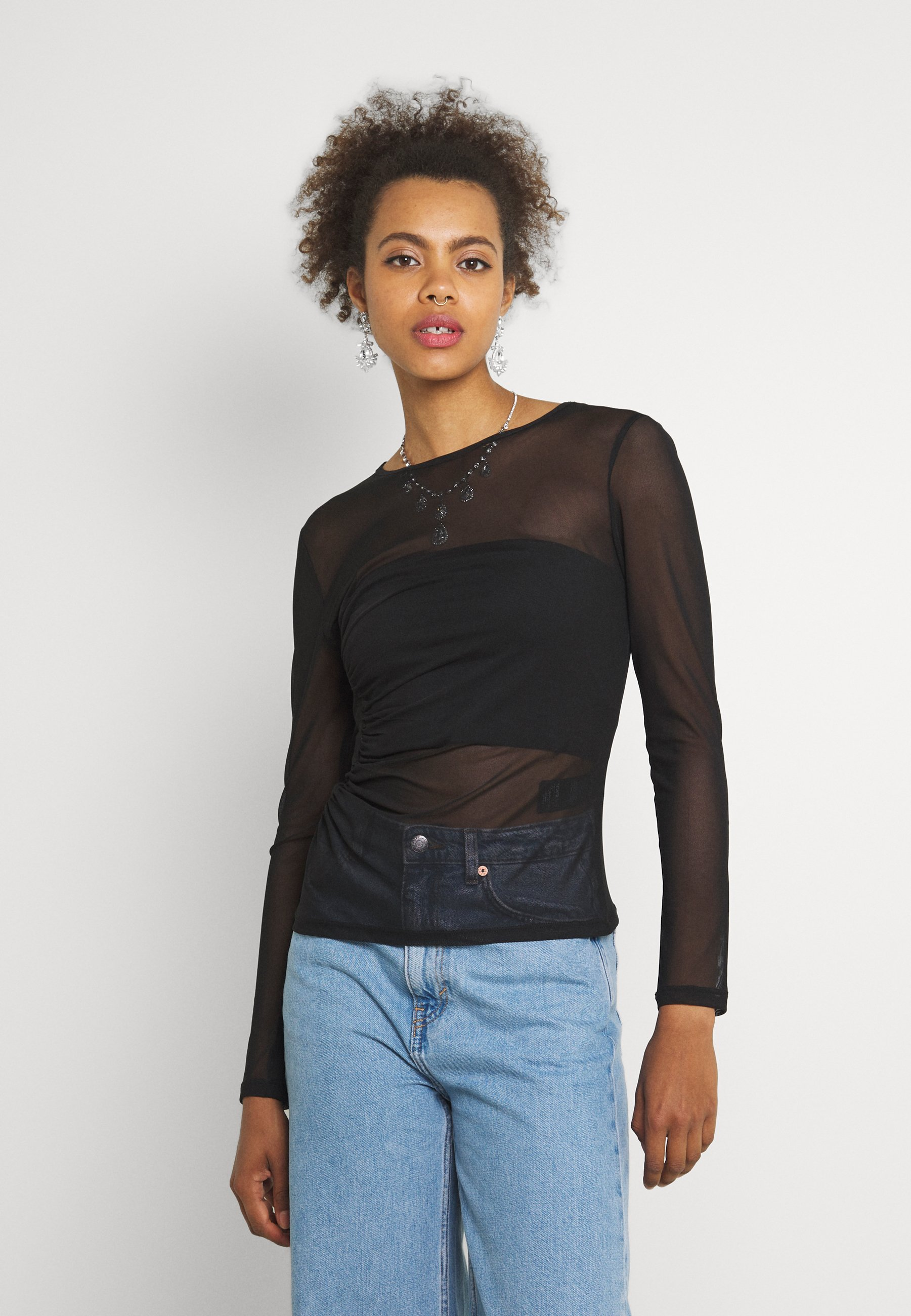 Women ASYMMETRIC GATHERED - Long sleeved top