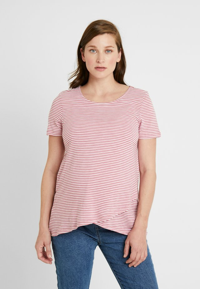 MAISON NURSING - Print T-shirt - rose/white