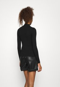 Even&Odd - CUT OUT JUMPER - Jersey de punto - black - 2