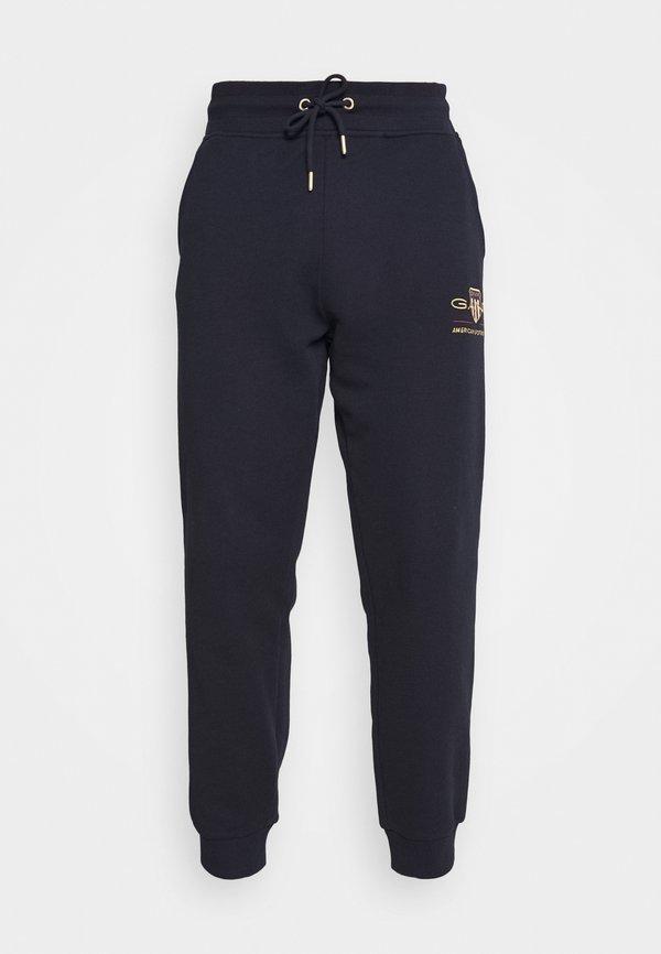 GANT ARCHIVE SHIELD - Spodnie treningowe - evening blue/granatowy Odzież Męska GFAE