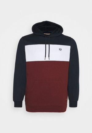 MARLEY SPLICED HOODIE - Sweatshirt - dark blue/white/red