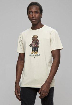 Print T-shirt - sand/mc