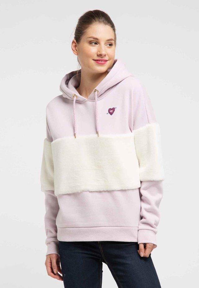 Felpa con cappuccio - powder pink