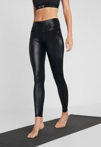 Hunkemöller - LEGGING SHINY - Tights - black - 0