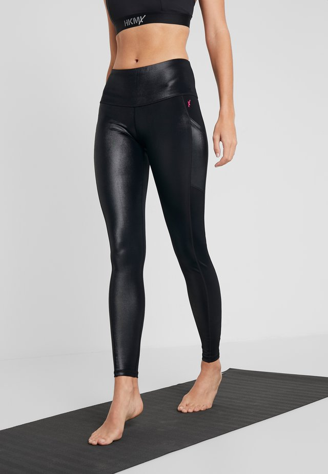 LEGGING SHINY - Tights - black
