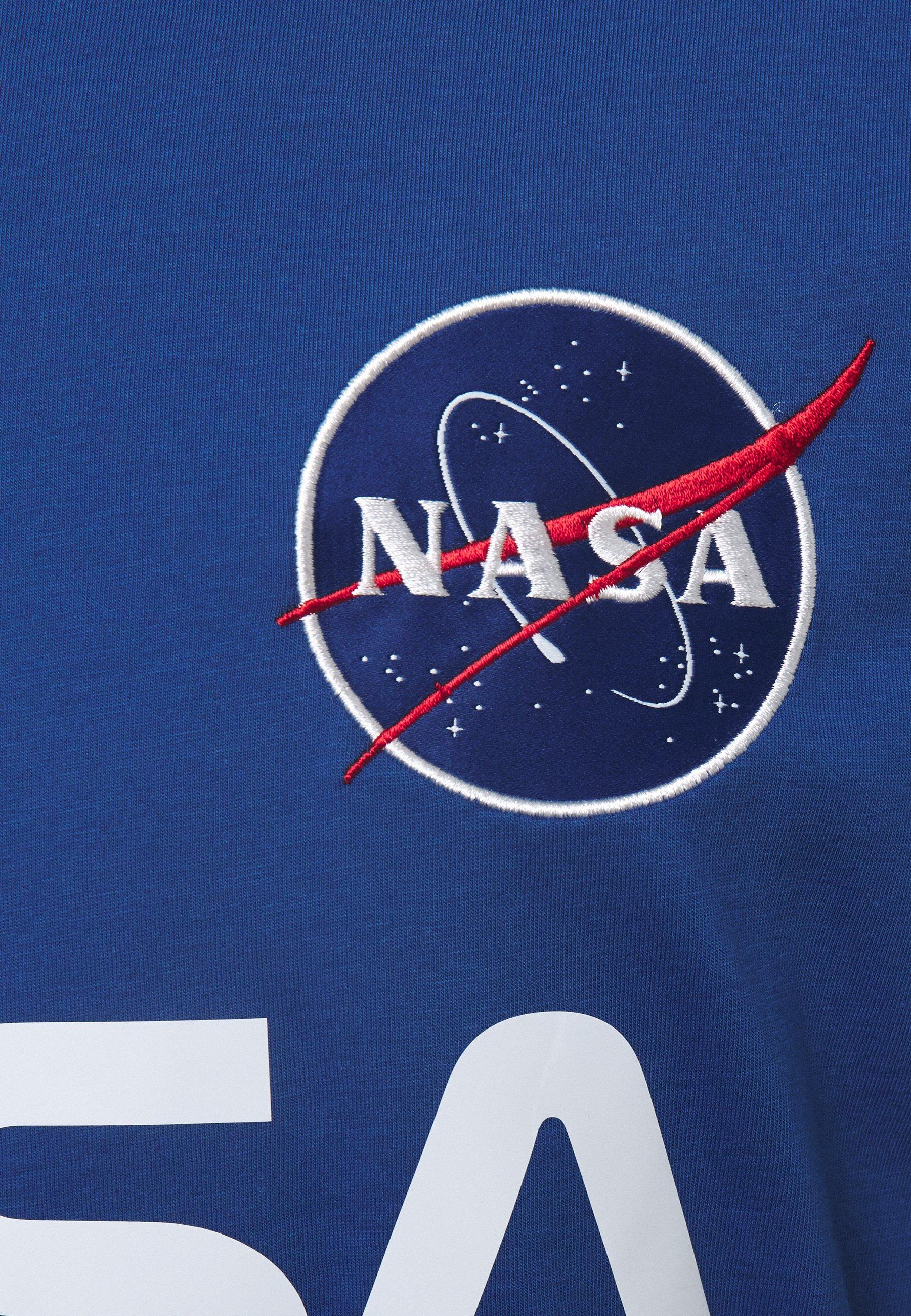 Alpha Industries NASA REFLECTIVE TEE - Print T-shirt - blue Ur76p