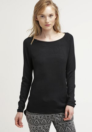 ONLMILA LACY LONG - Strickpullover - black
