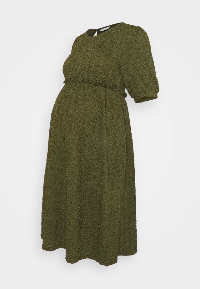 MLCALIFORNIA DRESS - Trikoomekko - deep lichen green