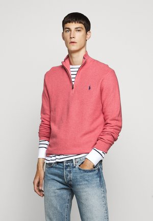 PIMA TEXTURE - Strickpullover - salmon heather