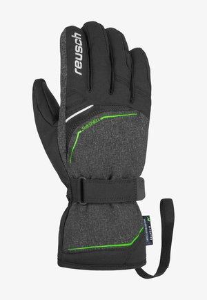 PRIMUS R-TEX® - Gloves - blck/blck mel/neon green