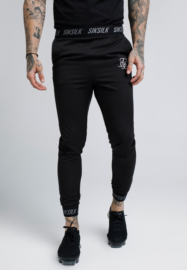 SIKSILK - PERSUIT PANT - Tracksuit bottoms - black