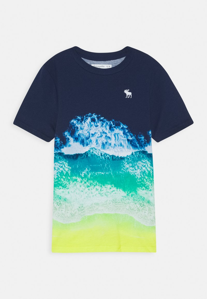 Abercrombie & Fitch - PHOTOREAL ALL OVER - T-shirt z nadrukiem - navy