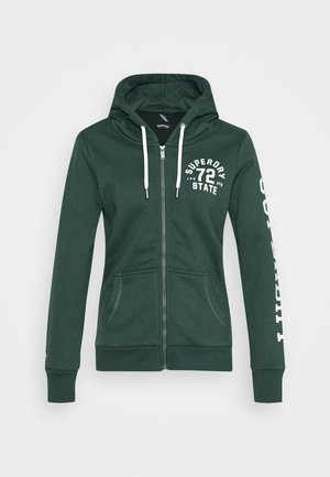 CLASSIC ZIPHOOD - Zip-up hoodie - enamel green