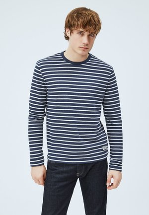 Long sleeved top - deepsea blau