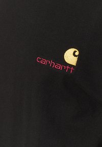 Carhartt WIP - AMERICAN SCRIPT  - Triko spotiskem - black - 2
