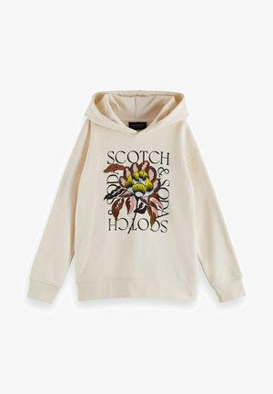 LOOSE FIT ARTWORK HOODIE - Sweatshirt - off white