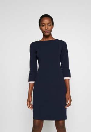 PEEK-A-BOO CUFF SLEEVE SHEATH - Shift dress - midnight combo