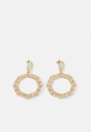 CHAIN HEX HOOP - Earrings - gold-coloured