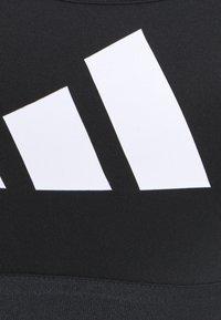 adidas Performance - 3 BAR BRA - Sports-BH-er med medium støtte - black/grey four/white - 6