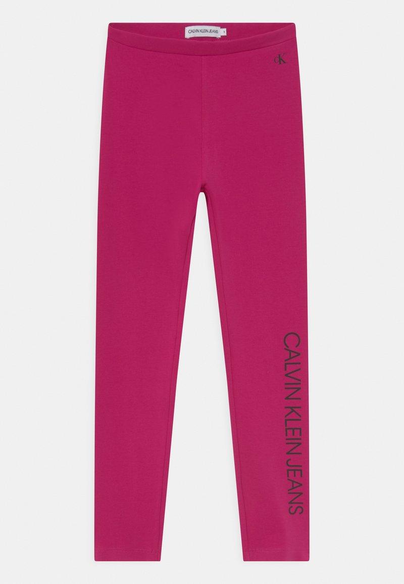 Calvin Klein Jeans - LOGO - Legginsy - stunning magenta