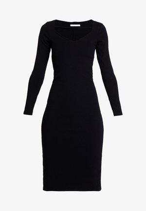 VESTIDO MALHA NEW HERVE - Shift dress - preto reativo