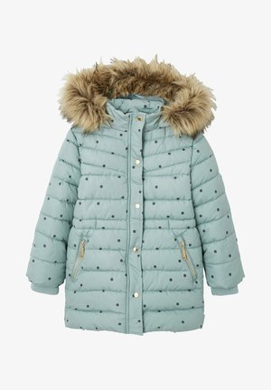 Winter coat - grün bedruckt