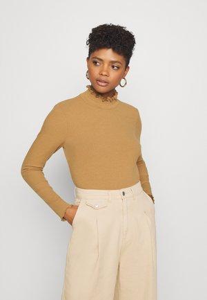 VMGLADYS HIGHNECK TOP - Long sleeved top - tobacco brown