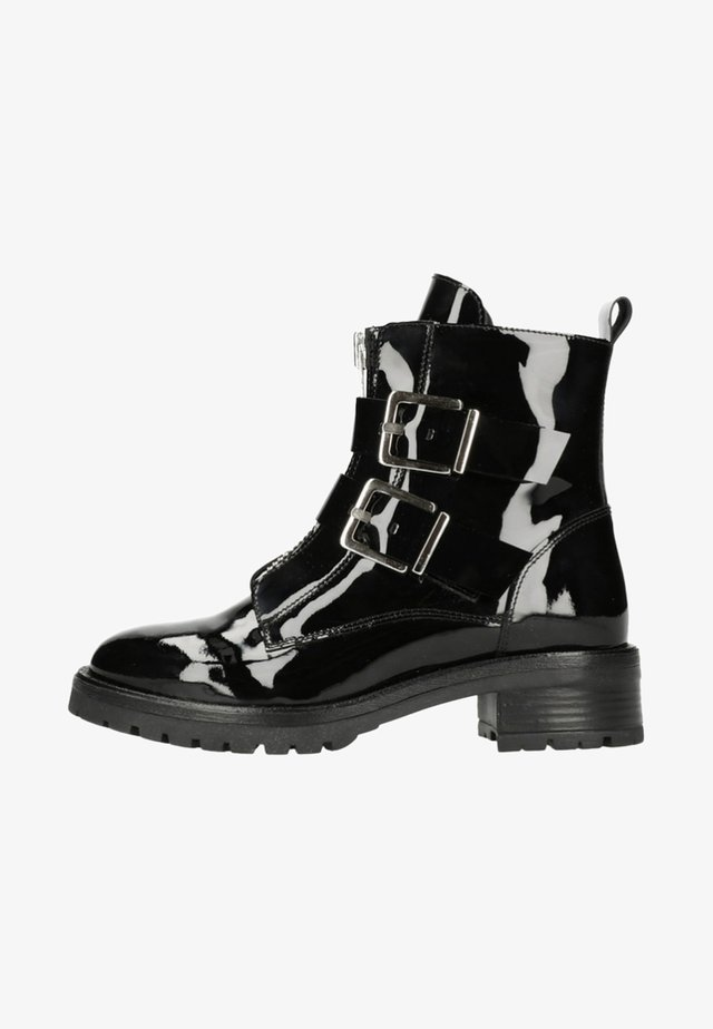 MIT SCHNALLEN - Classic ankle boots -  black