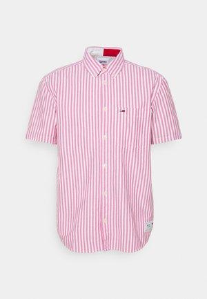 STRIPED SHORT SLEEVE - Shirt - pink