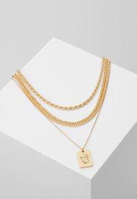 Pieces - PCMULA COMBI NECKLACE - Halskæder - gold coloured - 0