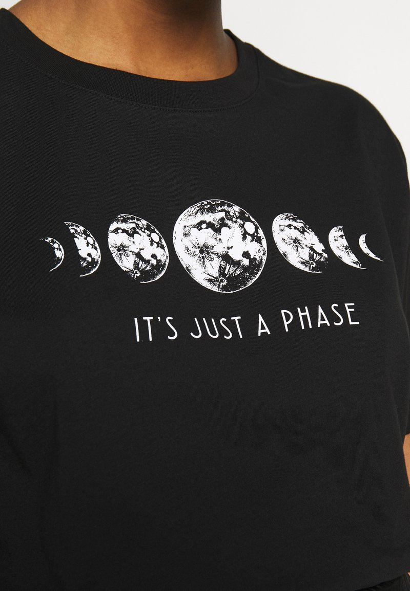 Even&Odd T-Shirt print - black/schwarz cj78XP