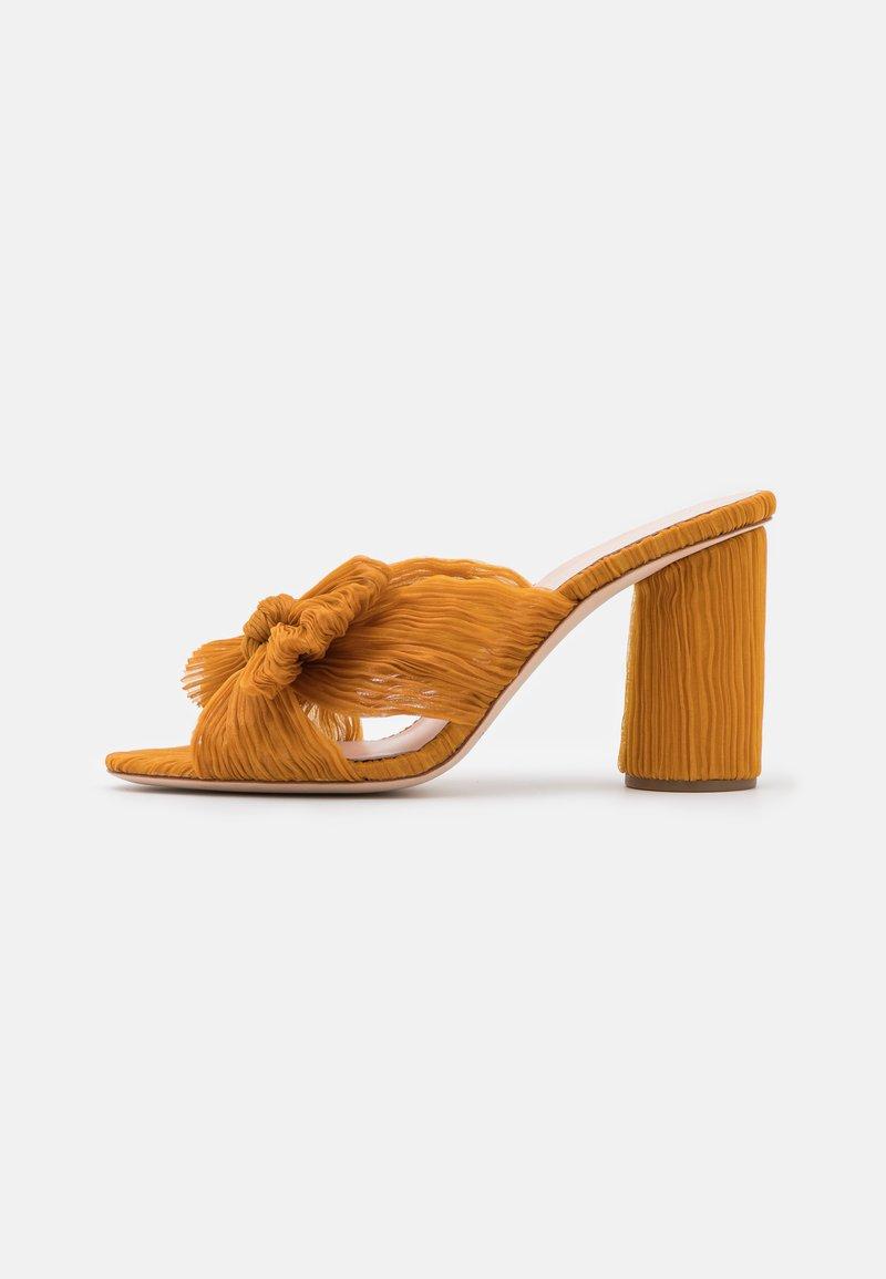 Loeffler Randall - PENNY - Pantofle na podpatku - marigold