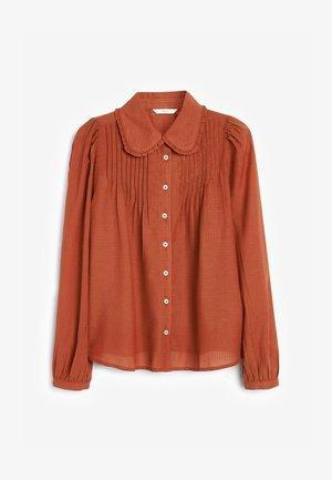RUFFLE COLLAR  - Camicia - brown