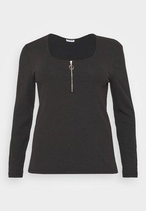 NMELINA - Long sleeved top - black