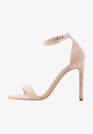 High heeled sandals - nude