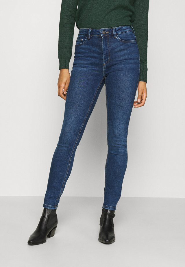 NMCALLIE CHIC - Jeans Skinny Fit - dark blue denim