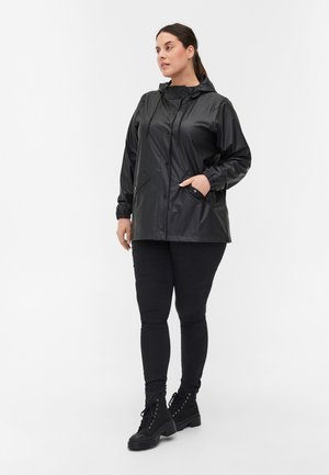 REGEN MIT  UND ERSCHLUSS - Waterproof jacket - black