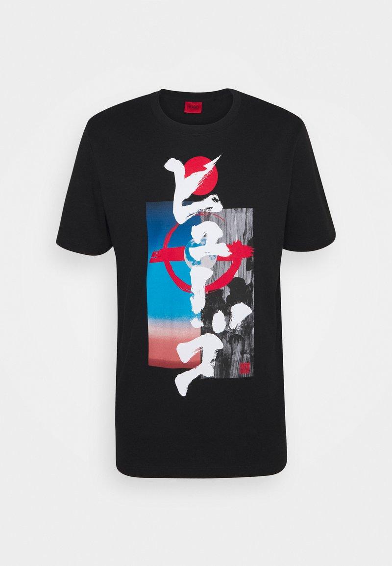HUGO - DAMURAI - Print T-shirt - black