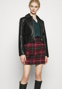 New Look - DUDLEY BRUSHED CHECK MINI - A-line skirt - multi - 4
