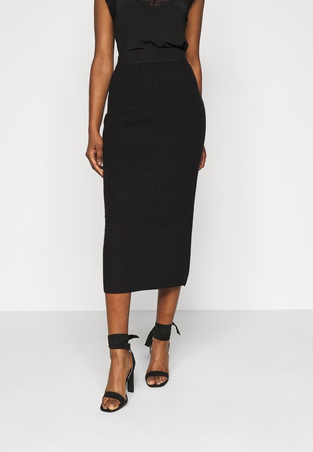 MEEKER SKIRT - Gonna a tubino - black